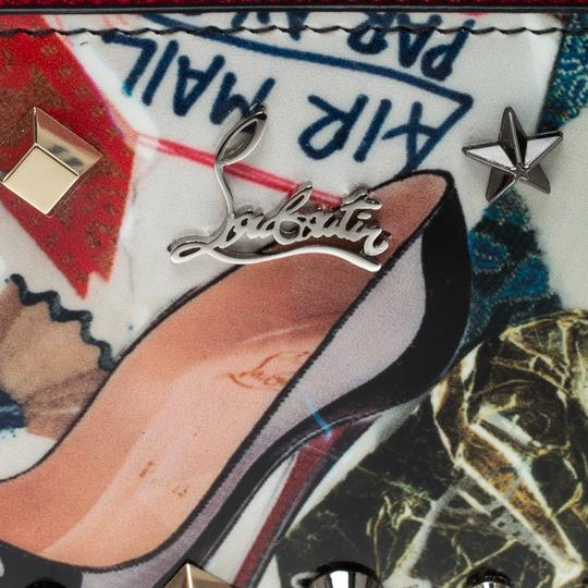 Christian Louboutin Multicolor Trash Print Patent Leather Panettone Spiked Zipper Coin Pur Image 7