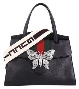 e7b85c3b270 Gucci Linea Medium Totem Butterfly Clasp Brown Convertible Calfskin ...
