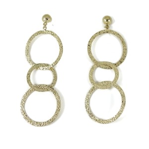 Roberto Coin Roberto Coin 18K Yellow Gold Three Circle Drop Earrings
