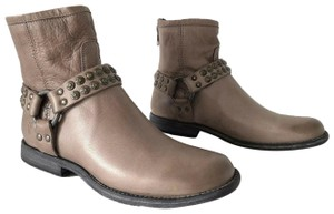 Frye Phillip Harness Ankle Studded Gray Boots