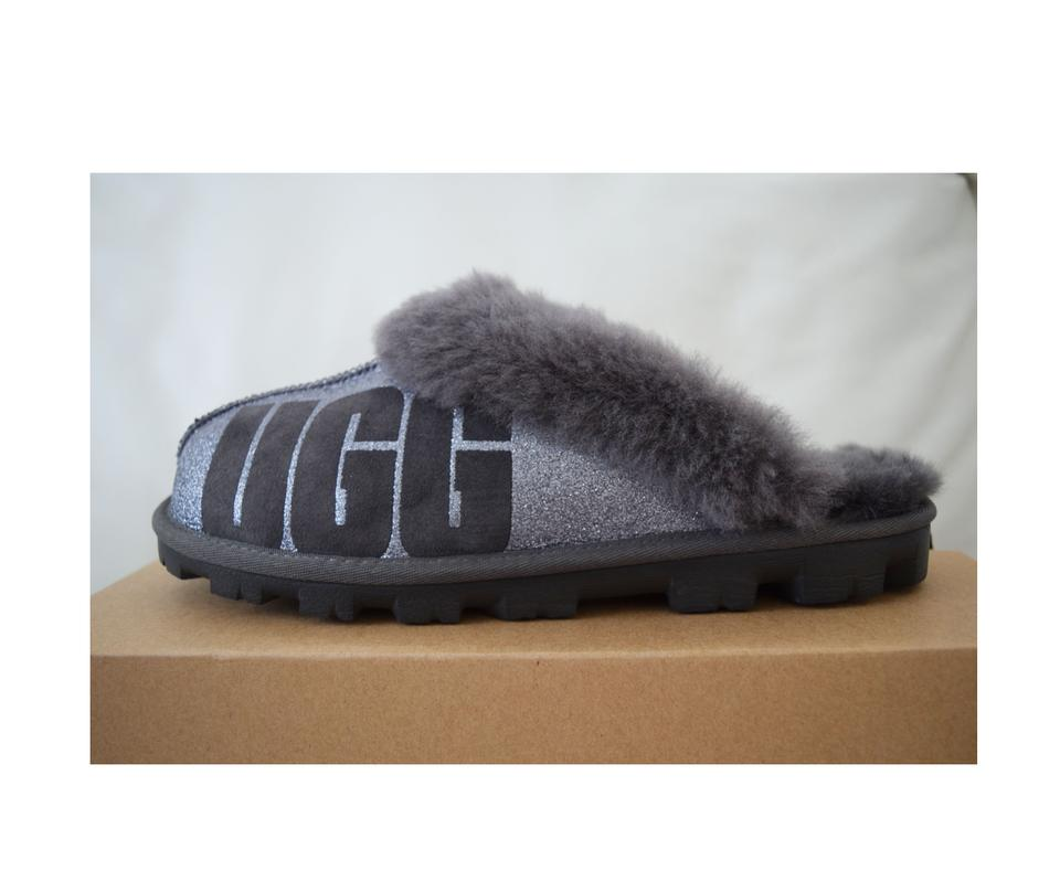 2b9d40e0f72 UGG Australia Charcoal Women's Coquette Sparkle Slippers Flats Size US 8  Regular (M, B) 7% off retail