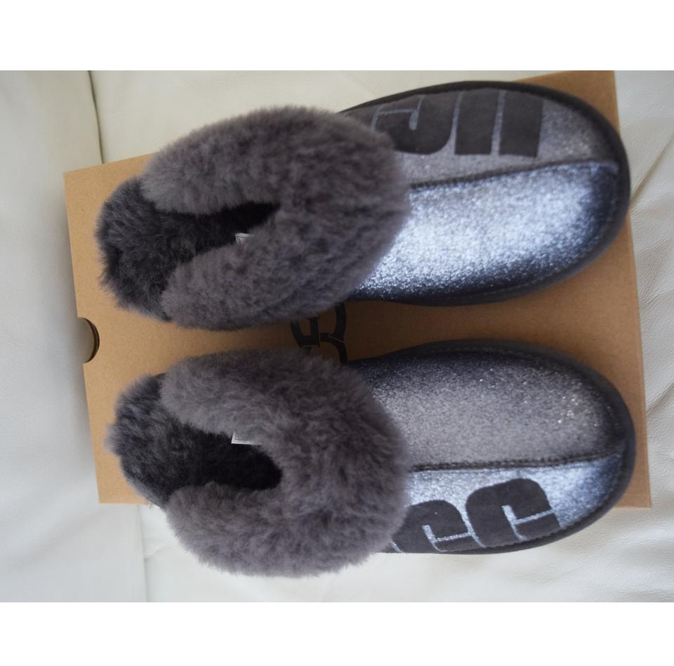 49383c641d7 UGG Australia Charcoal Women's Coquette Sparkle Slippers Flats Size US 8  Regular (M, B) 7% off retail