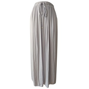 e78e924dff Liz Claiborne Pleated Boho Floor Pleats Maxi Skirt gray