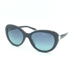 3930ad0d017 Tiffany   Co. Black   Silver Classic Heart Butterfly Sunglasses 4113-F ...