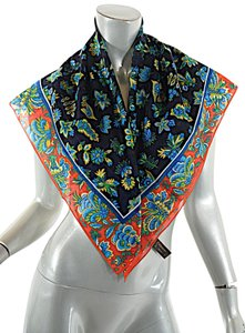 Saint Laurent Yves Saint Laurent Foulards Multi 100% Cotton Floral Pattern Scarf