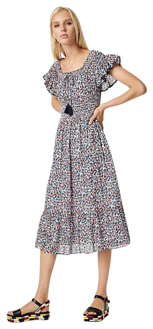 Item - Wildflower Smocked Midi Cover Up Mid-length Casual Maxi Dress Size 2 (XS)