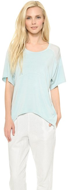 Item - Blue Remixed Slouchy Combo Blouse Size 8 (M)