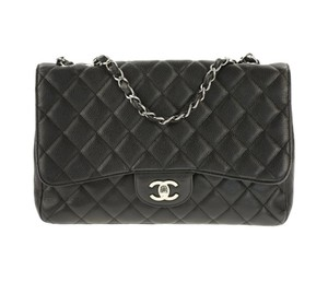Chanel Silver Hardware Cc Caviar Flap Chain Shoulder Bag