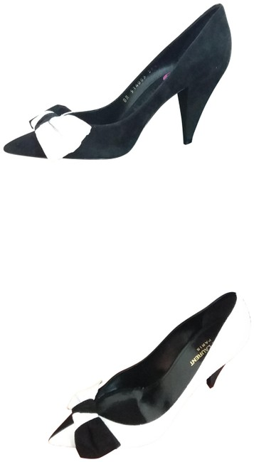 Item - Black and White Era 85 Bow Pumps Size EU 38.5 (Approx. US 8.5) Regular (M, B)