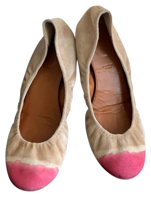 Item - Pink Light Brown Ballet Flats Size US 7 Regular (M, B)
