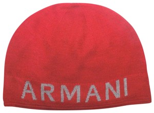 A|X Armani Exchange BRAND NEW MEN'S ARMANI EXCHANGE A|X KNIT RED GRAY REVERSIBLE BEANIE HA