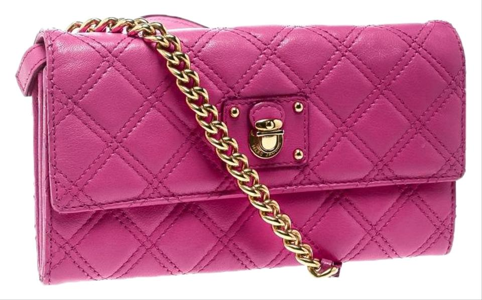 a2769d692f52 Marc Jacobs Quilted Crossbody Pink Leather Shoulder Bag - Tradesy