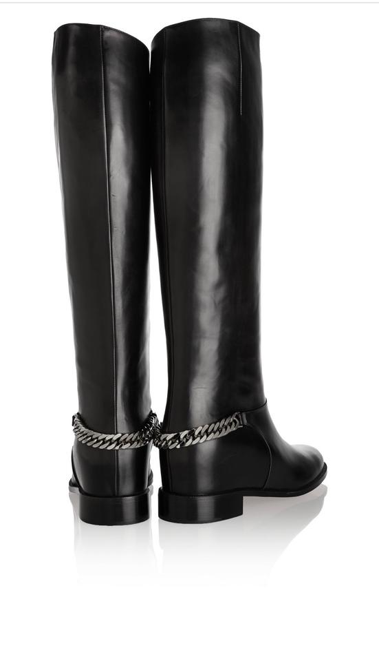 a67ef251b64 Christian Louboutin Black Chain-trim Red-sole Boots/Booties Size EU 36  (Approx. US 6) Regular (M, B) 46% off retail
