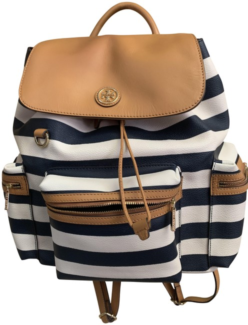 Item - Black and White Leather Backpack