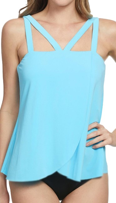 Item - Sky Blue Magicsuit Michelle Top with Matching Pant Tankini Size 10 (M)