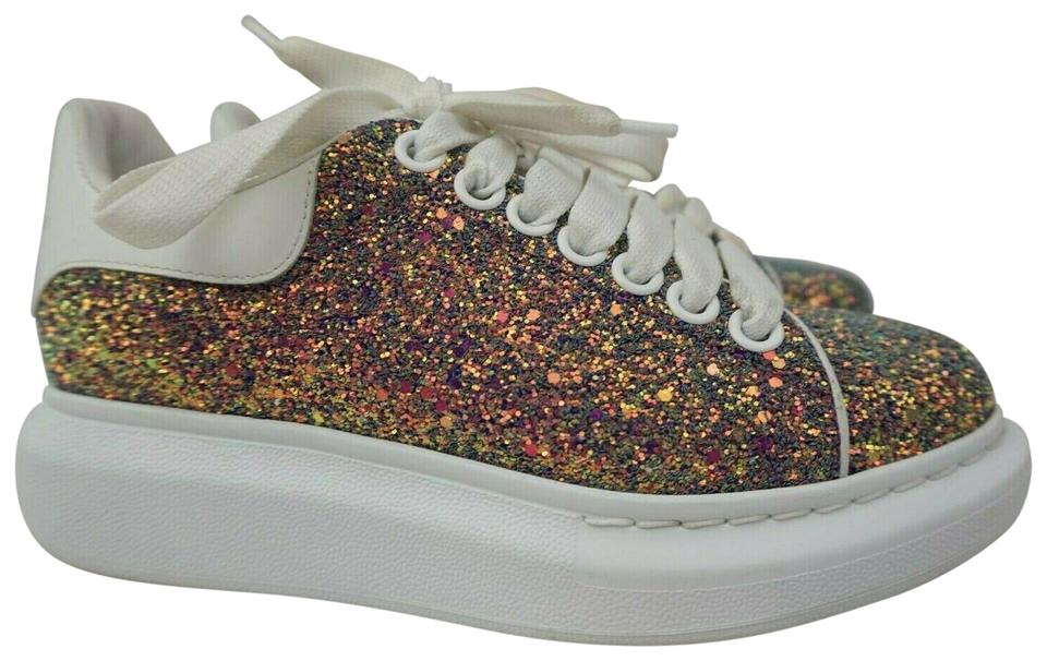 Alexander McQueen White Oversized Women's Glitter Sparkle Sneakers Size EU  35 (Approx. US 5) Regular (M, B)
