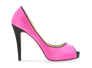 Christian Louboutin Satin Leather Pink Pumps