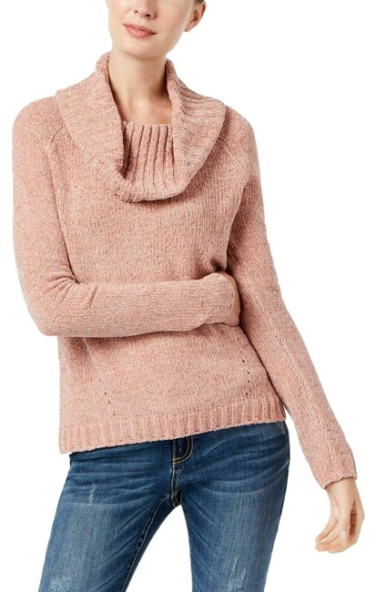 Item - Women's Cowl-neck Chenille Pink Sweater