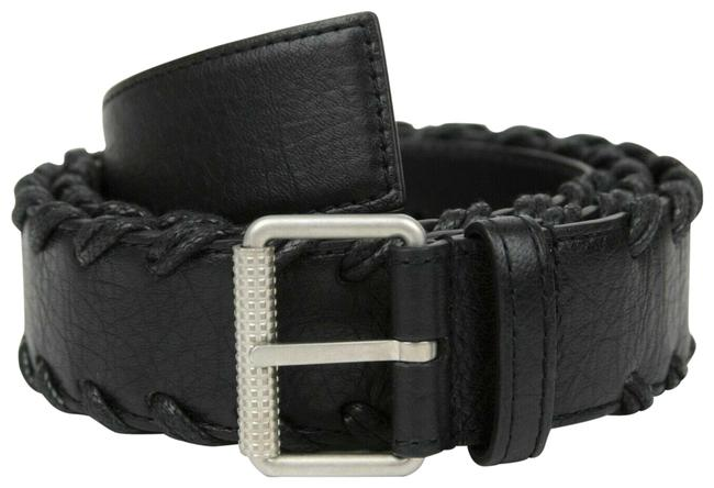 Item - Black Leather with Cord Detail 105/42 435617 Belt