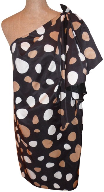 Gianfranco Ferre Multi-color Fabulous Off Shoulder Elegant Polka Dot Short Cocktail Dress Size 8 (M) Gianfranco Ferre Multi-color Fabulous Off Shoulder Elegant Polka Dot Short Cocktail Dress Size 8 (M) Image 1