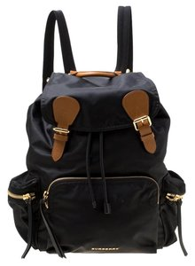 9ed4bf0ab6d1 Burberry And Leather Rucksack Black Nylon Backpack - Tradesy