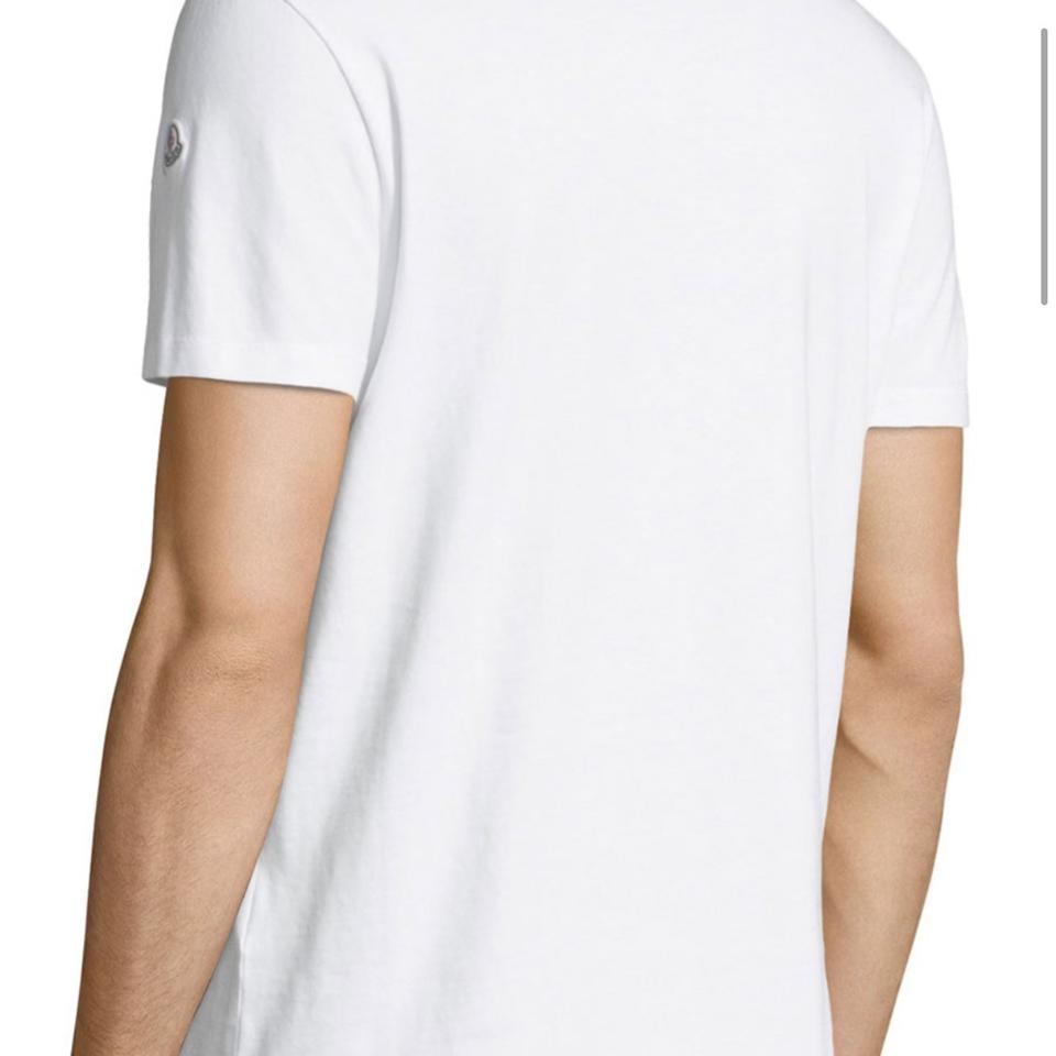 9314f772 Moncler White Men's Embroidered Logo Jersey Xl Tee Shirt Size OS (one size)  - Tradesy