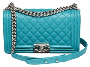 6f1c27735163 Blue Lambskin Leather Chanel Bags - 70% - 90% off at Tradesy