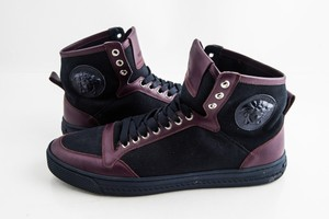 ca66d4086 Versace Blue Medusa Canvas and Leather Sneakers Blue/Purple Shoes