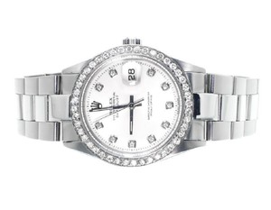 Rolex Mens Ladies Datejust 36MM Oyster White MOP Dial Diamond 2.5 Ct