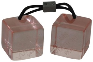 Louis Vuitton Louis Vuitton Pink Lucite Cube Ponytail Ties Hair Accessories