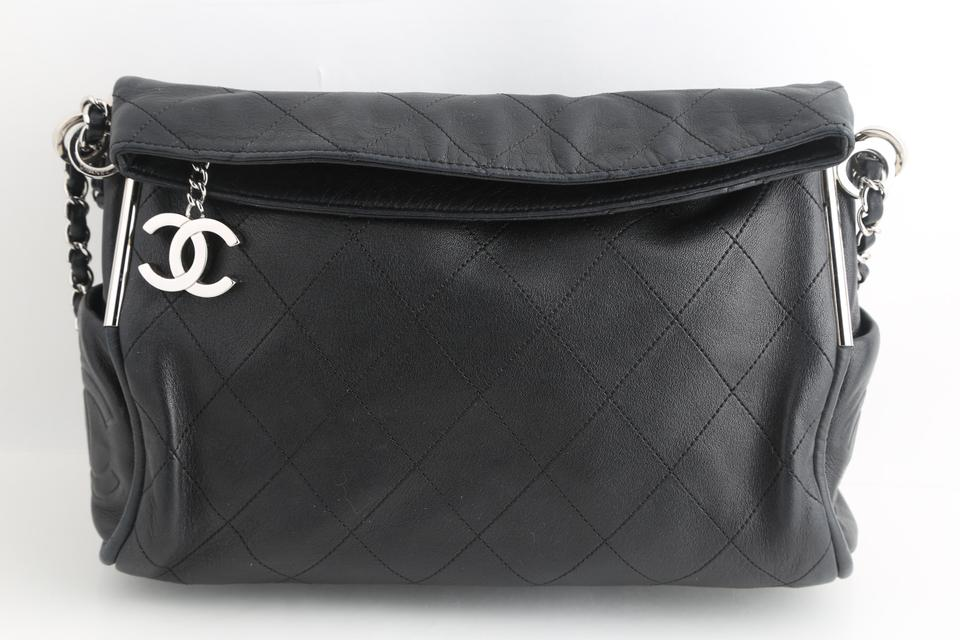 61ce32bfd32d Chanel Quilted Medium Ultimate Soft Black Lambskin Leather Tote ...