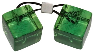 Louis Vuitton Louis Vuitton Green Lucite Cube Ponytail Ties Hair Accessories