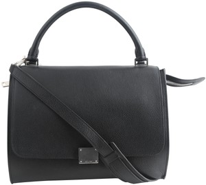 Celine Dion Calfskin Suede Trapeze Tote in black