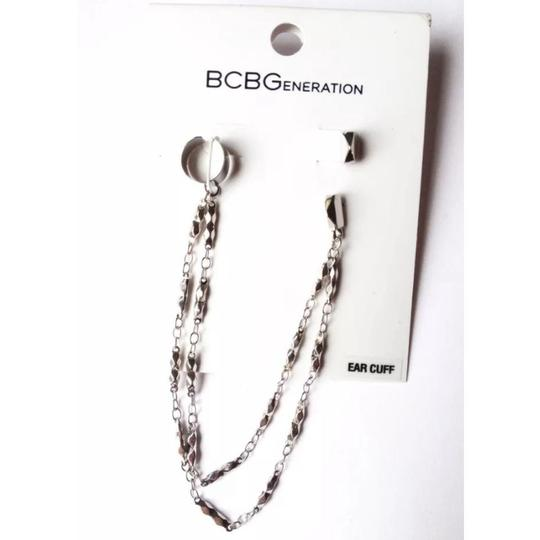 BCBGeneration Toned ear cuff double chain stud studded Image 2