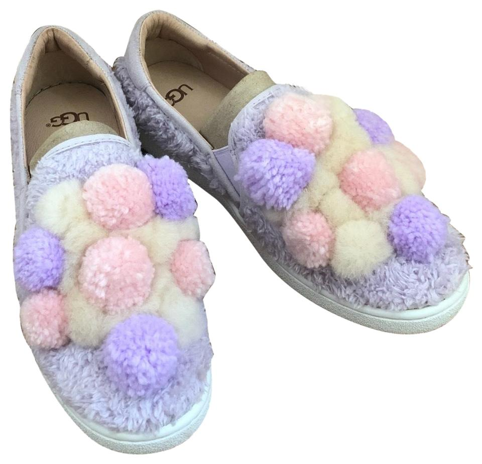 96ce168a921 UGG Australia Lavender Pink Ivory Pom-pom Sneakers Size US 6 Regular (M, B)  50% off retail