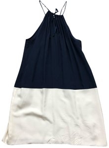 Amour Vert short dress blue and cream on Tradesy