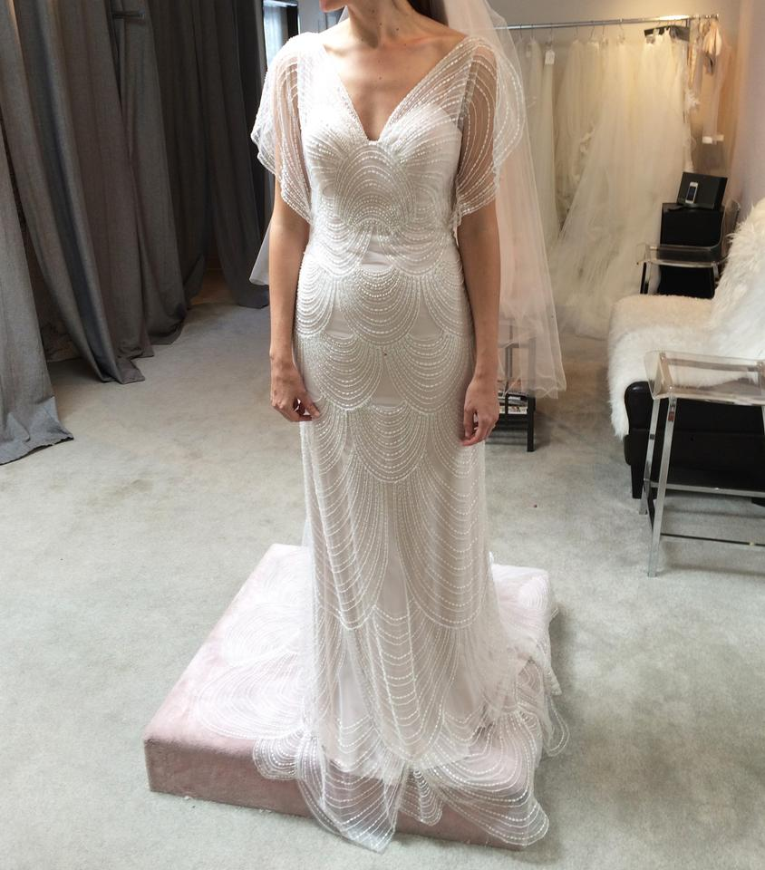 Retro Wedding Dresses.Light Blush Tulle Embellished With Art Deco Bohemian Gown Retro Wedding Dress Size 4 S 37 Off Retail