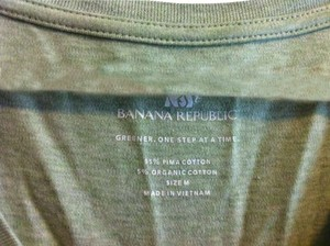 Banana Republic T Shirt Lime Green