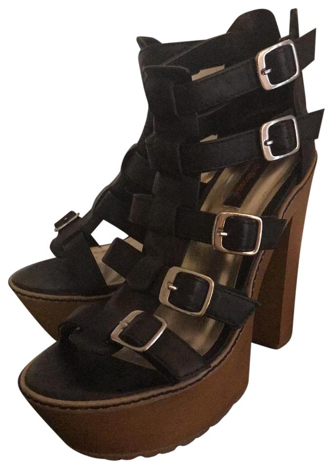 7fb74e4d92 Dollhouse Funky Strapped Wedge Sandals Platforms Size US 8.5 Regular ...