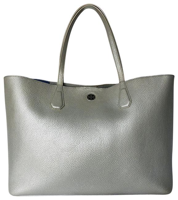 Item - Perry Large Silver Leather Tote