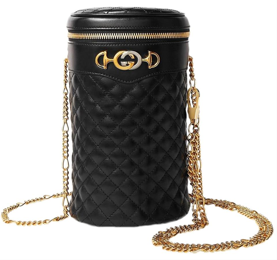 40c7e081 Gucci Trapuntata Quilted Leather Belt L Cross Body Bag