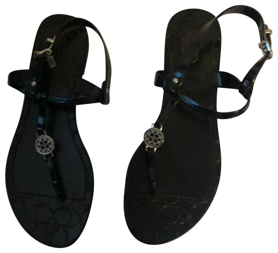 f6fd18836 Coach Black Flat Plastic Sandals. Size  US 9 Regular (M ...