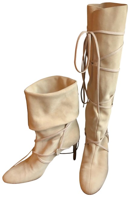 Item - Cream Suede Cage Boots/Booties Size US 9 Regular (M, B)
