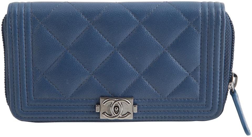 ae157b350ed408 Chanel Chanel Boy Zip Around Wallet Quilted Caviar Small Image 0 ...