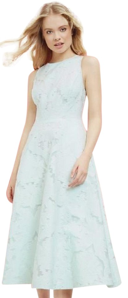 212c988073 Ted Baker Mint Green Roshi Burn Out Lace Tie The Knot Midi Lace Cocktail  Dress