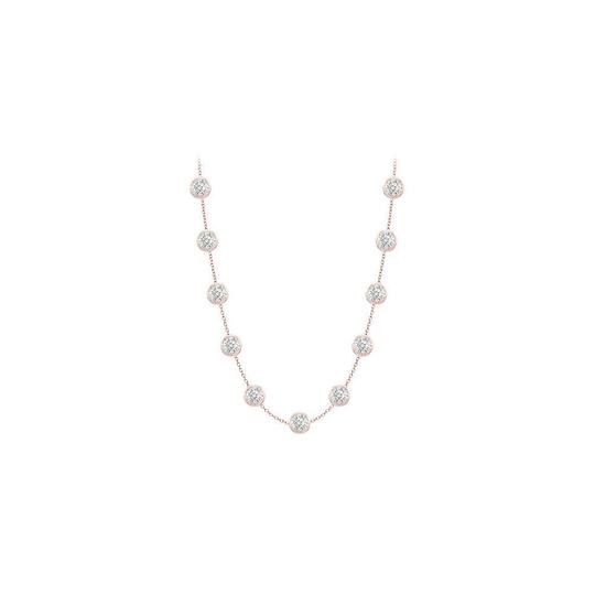 Preload https://img-static.tradesy.com/item/25192103/white-14k-rose-gold-station-with-two-carat-tgw-in-16-inch-cable-necklace-0-0-540-540.jpg