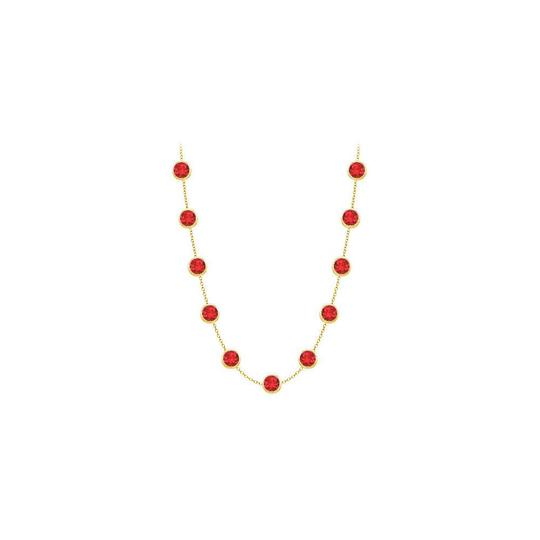 Preload https://img-static.tradesy.com/item/25192128/red-created-ruby-14k-yellow-gold-bezel-set-200-cttw-necklace-0-0-540-540.jpg