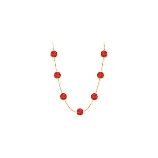 Preload https://img-static.tradesy.com/item/25192138/red-created-ruby-14k-yellow-gold-bezel-set-200-cttw-necklace-0-0-540-540.jpg