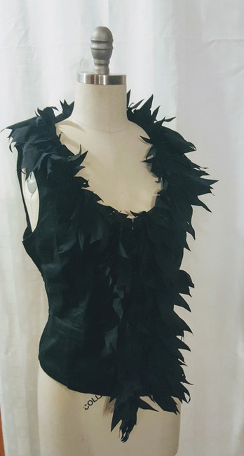 Anne Fontaine Summer French Designer Soho Evening Top Black Image 1