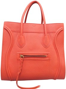 Céline Luggage Phantom Medium Tote in Orange
